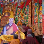 """Tibetan Buddhist Gatherings Worship a Portrait of His Holiness"" By Woeser"