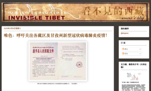 唯色:呼吁关注各藏区及甘孜州新型冠状病毒肺炎疫情!